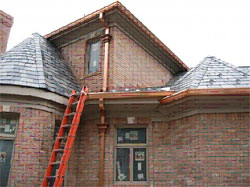 5 inch K Style copper gutters