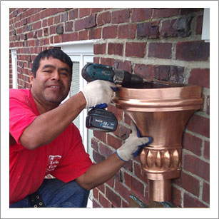 Copper gutter repair