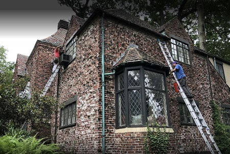 gutter cleaning in Fairfield County, CT